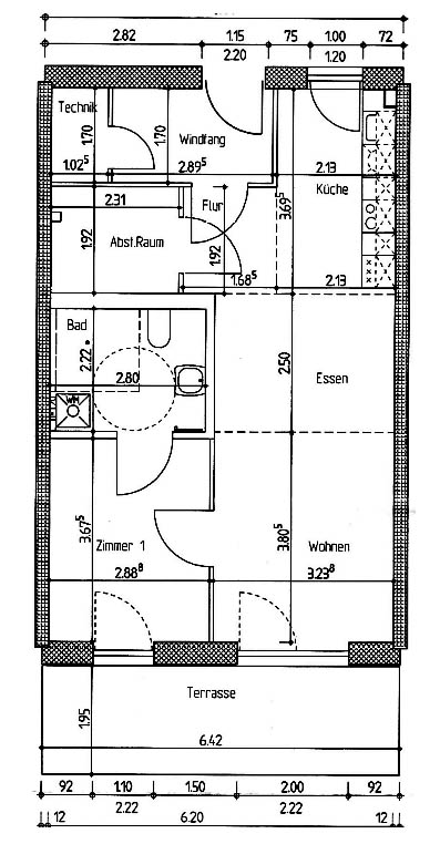 Wohnung 1-17 Grundriss